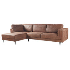 Skyla 3 Seater Leather Sofa with Chaise