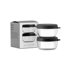 Charcoal Dressing Containers (Set of 2)