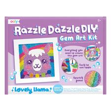 Kids' Llama Razzle Dazzle DIY Gem Art Set
