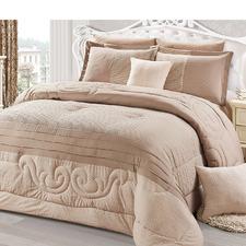 Latte Nora Reversible Comforter Set