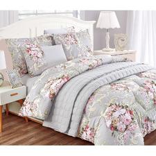 Grey Corey Rodes Reversible Comforter Set