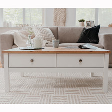 White Brenna Coffee Table