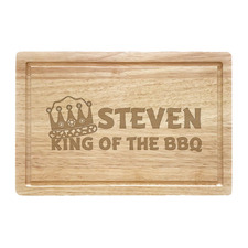 King Of The BBQ Personalised Beech Wood Chopping Board