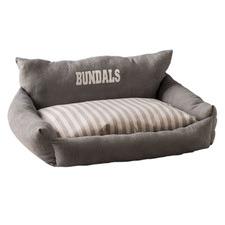 Grey & Cream Personalised Pet Bed