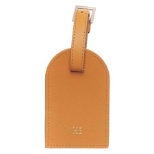 Tan Monogram Personalised Recycled Leather Luggage Tag