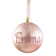 Snowflake Hand-Painted Personalised Christmas Bauble