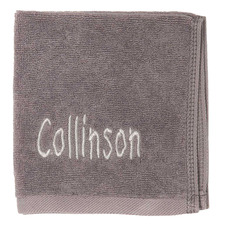 Slate Personalised Cotton Face Towel