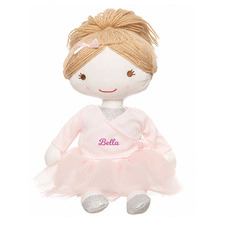 Kids Personalised Plush Ballerina Rag Doll