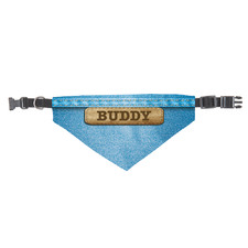 Denim Personalised Pet Scarf