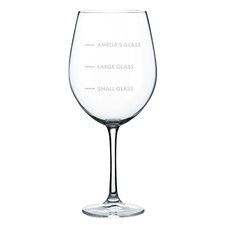 Sizes Personalised 745ml Wine Glass