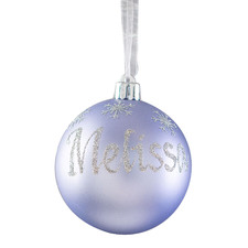 Snowflakes Hand-Painted Christmas Bauble