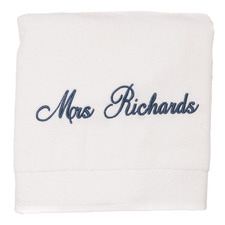 Snow Personalised Cotton Bath Towel