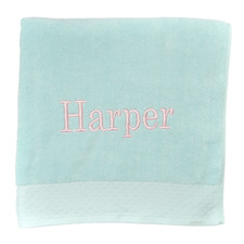 Mint Personalised Cotton Bath Towel
