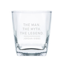 The Man, The Myth, The Legend Personalised 295ml Scotch Glass