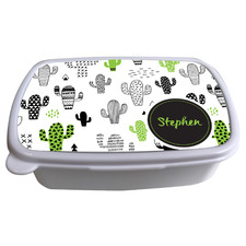 Kids' Cactus Personalised Lunchbox
