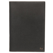 Black Monogram Personalised Recycled Leather Notebook Cover