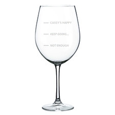 Keep Going Personalised 745ml Wine Glass