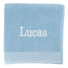 Turquoise Personalised Cotton Bath Towel