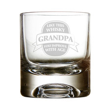 Improves With Age Personalised 300ml Whiskey Glass