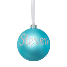 Plain Hand-Painted Personalised Christmas Bauble