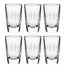 Initials Personalised 57ml Shot Glasses (Set of 6)