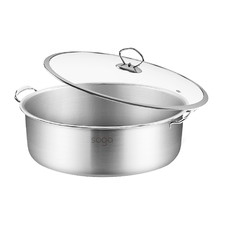 Silver 32L Stainless Steel Casserole