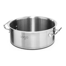 Silver Round Stainless Steel Stock Pot