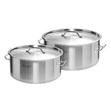 2 Piece Silver 14L & 83L Stock Pot Set