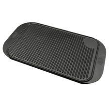 Black 48cm Cast Iron Grilling Pan