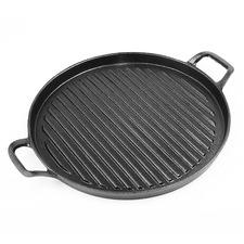 Black 30cm Cast Iron Grill Pan