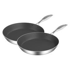2 Piece 24cm & 32cm Fry Pan Set