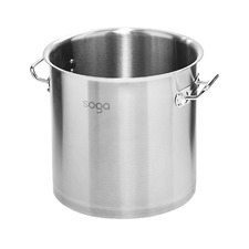 Silver Stainless Steel Stock Pot