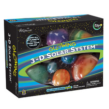 3D Glowing Solar System Science Box