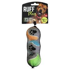 3 Piece Tennis Ball Dog Toys (Set of 3)