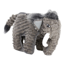 Grey Mammoth Plush Dog Toy