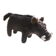 Brown Warthog Plush Dog Toy