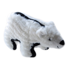 White Polar Bear Plush Dog Toy