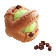 Orange Foam Treat Ball Dog Toy