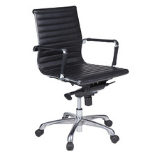 Aidan Faux Leather Aluminium Base Executive Chair