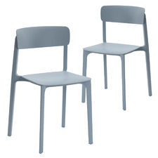 Carter Stackable Outdoor Dining Chairs (Set of 2)