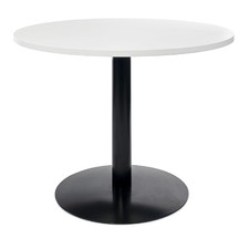 White Cosby Round Office Table