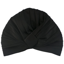 Black Amelie Shower Cap