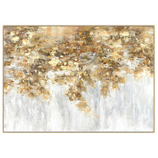 Golden Shimmer Framed Canvas Wall Art