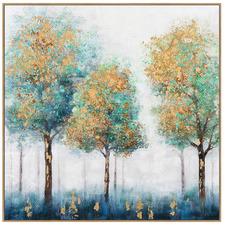 Sapphire Woods B Framed Canvas Wall Art