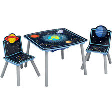 Kids' 2 Seater Space Adventures Table & Chair Set