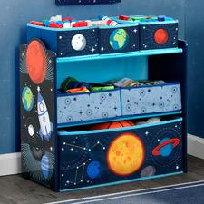 Kids' Space Adventures 3 Tier Bookshelf & Toy Storage