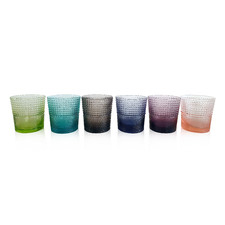 6 Piece IVV Speedy 280ml Glass Tumbler Set