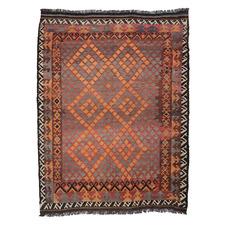 Wazir Hand-Woven Reversible Wool Kilim Rug