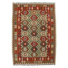 Farouk Hand-Woven Reversible Wool Kilim Rug