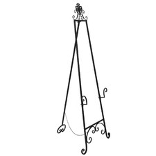 152cm Black Metal Art Easel Stand